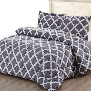 Queen Comforter Set-2 Pillow Shams DownAlternative